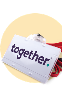 Together lanyard pass