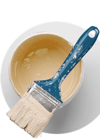 Paint pot and brush